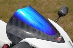 GSX1300R(隼)08年 カーボントリムスクリーン 平織りカーボン製/クリア MAGICAL RACING(マジカルレーシング)