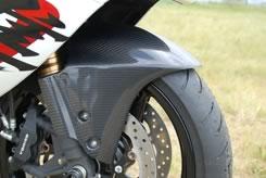 GSX1300R(隼)08年 フロントフェンダー(フォークガード一体型)綾織りカーボン製 MAGICAL RACING(マジカルレーシング)
