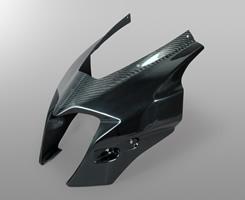 GSR400(06~08年) アッパーカウル本体(補修部品)FRP製・黒/一部平織りカーボン製 MAGICAL RACING(マジカルレーシング)