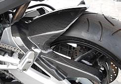 GSR400(06~08年) リアフェンダー(チェーンガード付)FRP製・黒 MAGICAL RACING(マジカルレーシング)