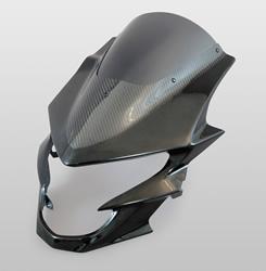 GSR750(10年~) アッパーカウル FRP製・黒/平織りカーボン製/スーパーコート MAGICAL RACING(マジカルレーシング)