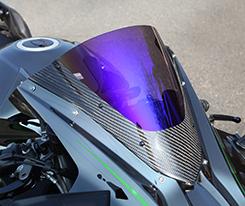 カーボントリムスクリーン 綾織りカーボン製 スモーク MAGICAL RACING(マジカルレーシング) Ninja H2