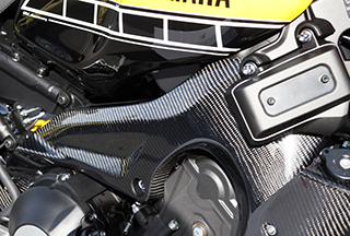 フレームガード 綾織りカーボン製 MAGICAL RACING(マジカルレーシング) XSR900(16年)