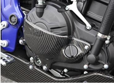 MT-25(15年) クラッチカバー&ジェネレーターカバーセット 平織りカーボン製 MAGICAL RACING(マジカルレーシング)