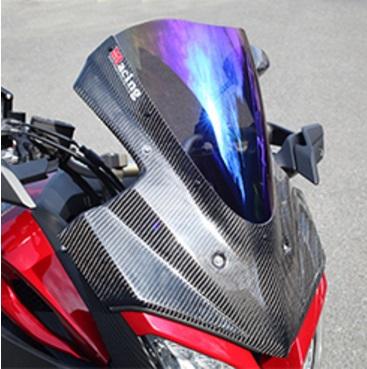 MT-09 TRACER(14年~) バイザースクリーン 綾織りカーボン製 スモーク MAGICAL RACING(マジカルレーシング)