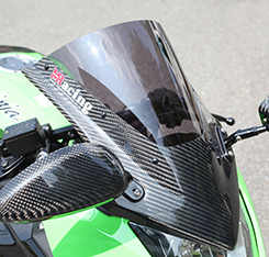 Ninja250SL(ニンジャ250SL)15年~ バイザースクリーン 平織りカーボン製/スモーク MAGICAL RACING(マジカルレーシング)
