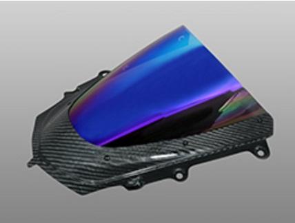 YZF-R1/R1M(15年) カーボントリムスクリーン 平織りカーボン製 クリア MAGICAL RACING(マジカルレーシング)