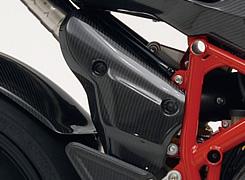 DUCATI 1098 マフラーヒートガード 平織りカーボン製 MAGICAL RACING(マジカルレーシング)