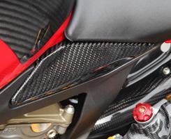 DUCATI 1199 Panigale(12年) シートサイドカバー 平織りカーボン製 MAGICAL RACING(マジカルレーシング)