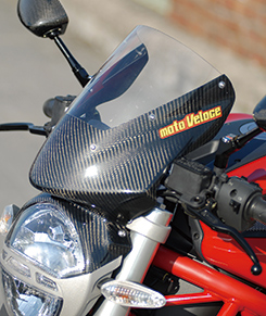 DUCATI Monster696 バイザースクリーン 綾織りカーボン製/スーパーコート MAGICAL RACING(マジカルレーシング)