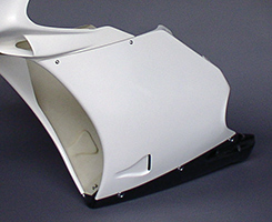 DUCATI 996(94年~) サイドカウル(左右セット)・998タイプ FRP製・白 MAGICAL RACING(マジカルレーシング)