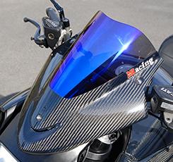 DUCATI Diavel(14年~) バイザースクリーン(STDタイプ)平織りカーボン製/スモーク MAGICAL RACING(マジカルレーシング)