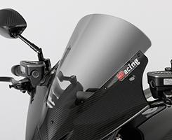 DUCATI Diavel(14年~) バイザースクリーン(50mmロングタイプ )平織りカーボン製/クリア MAGICAL RACING(マジカルレーシング)