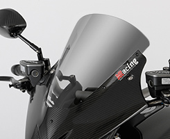 DUCATI Diavel(14年~) バイザースクリーン(50mmロングタイプ )綾織りカーボン製/スモーク MAGICAL RACING(マジカルレーシング)