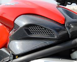 Mv Agusta BrutaleブルターレS(03年) エアダクトカバー/平織りカーボン製 MAGICAL RACING(マジカルレーシング)