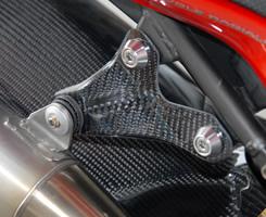Mv Agusta BrutaleブルターレS(03年) マフラーステー/平織りカーボン製 MAGICAL RACING(マジカルレーシング)