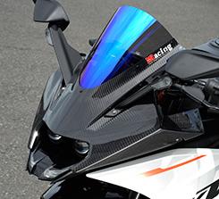 KTM RC390(14年~) アッパーカウル 平織りカーボン製/スモーク MAGICAL RACING(マジカルレーシング)