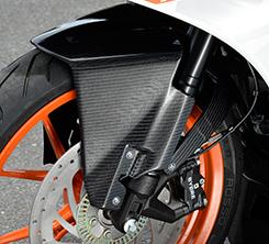 KTM RC390(14年~) フロントフェンダー FRP製・黒 MAGICAL RACING(マジカルレーシング)