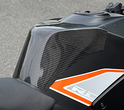 KTM RC390(14年~) タンクエンド(中空モノコック構造) 平織りカーボン製 MAGICAL RACING(マジカルレーシング)