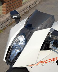 KTM 1190 RC8 カーボントリムスクリーン 平織りカーボン製/クリア MAGICAL RACING(マジカルレーシング)