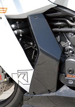 KTM 1190 RC8 サイドカバー(左右セット)平織りカーボン製/一部 FRP製・黒 MAGICAL RACING(マジカルレーシング)