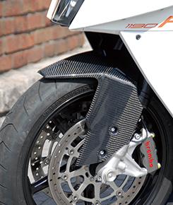 KTM 1190 RC8 フロントフェンダー GPタイプ 平織りカーボン製 MAGICAL RACING(マジカルレーシング)