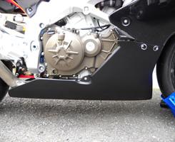 Aprilia RSV4 アンダーカウル タイプ1 Dリング ファスナー付 スライダー装着車用/FRP製・黒 MAGICAL RACING(マジカルレーシング)