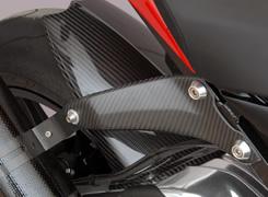 マフラーステー 綾織りカーボン製 MAGICAL RACING(マジカルレーシング) BMW S1000R(14年~)