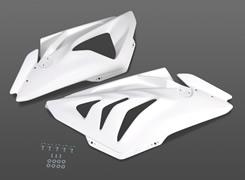 BMW S1000RR(12年) サイドカウル(左右セット・カウルファスナー付属)FRP製・白 MAGICAL RACING(マジカルレーシング)