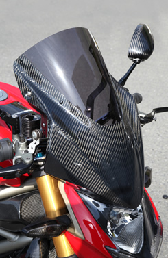 DUCATI Streetfighter バイザースクリーン 平織りカーボン製/スーパーコート MAGICAL RACING(マジカルレーシング)