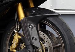 TRIUMPH DAYTONA675 フロントフェンダー(フロントフォークガード一体形状)綾織りカーボン製 MAGICAL RACING(マジカルレーシング)