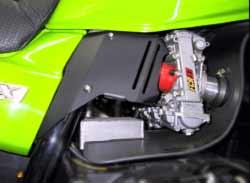ZRX1200 ニーグリッププレートKit ブラック MORIYAMA(モリヤマエンジニアリング)