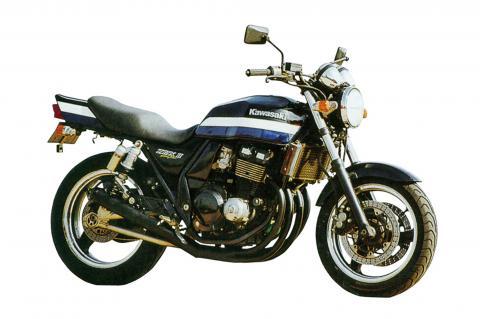 ZRX400/2(~97年) ショートマフラー クロームメッキ エムテック中京(M-TEC中京)