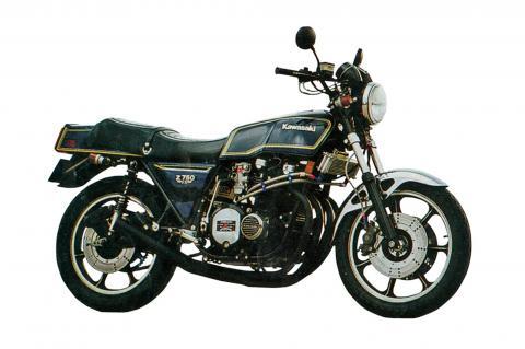 Z750FX-1 ショートマフラー 手曲 鉄フランジ ブラック エムテック中京(M-TEC中京)