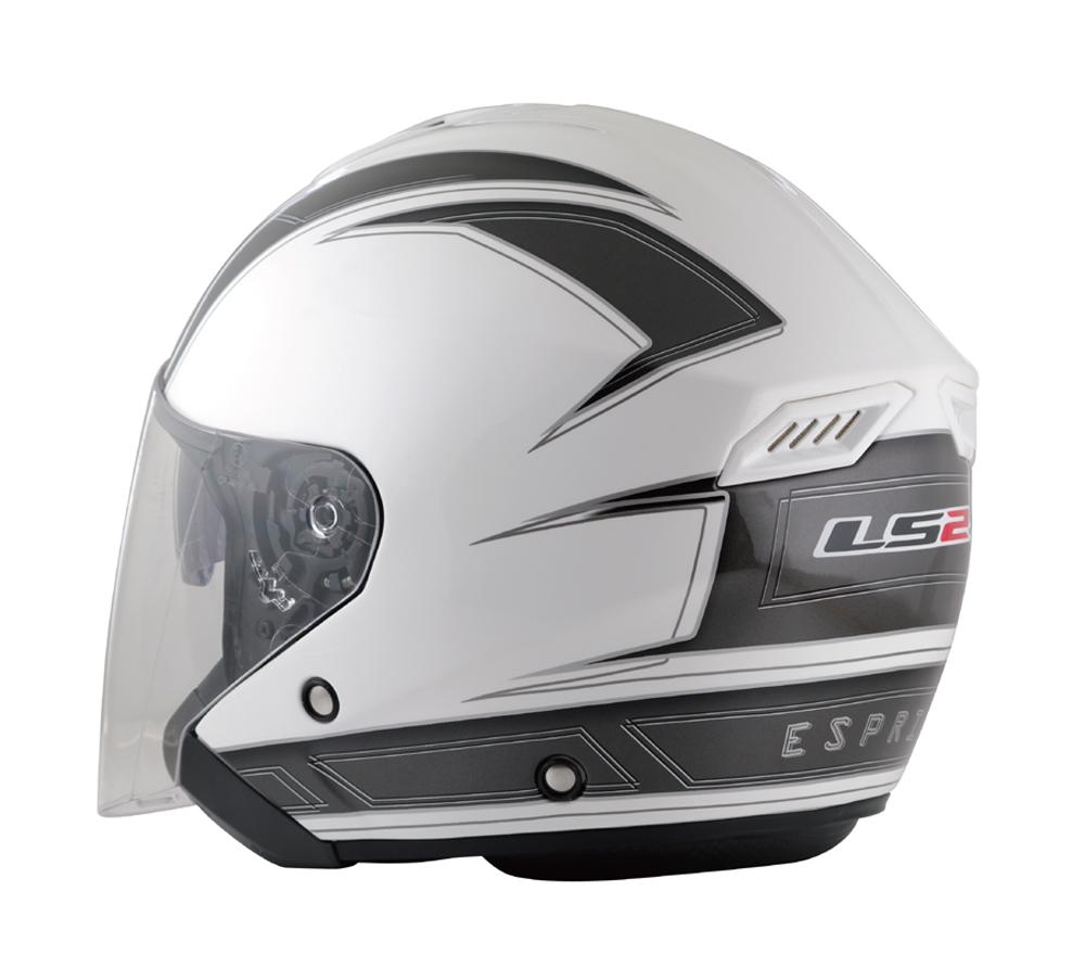 LS2 FREEWAY(フリーウェイ) エスプリホワイト XLサイズ ツインシールド・ジェットヘルメット MHR