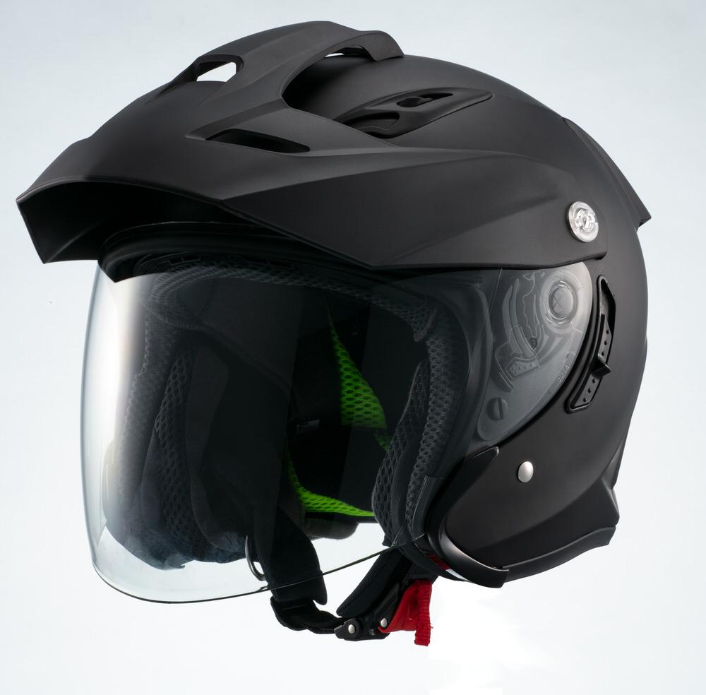 MSJ1 TE1 ジェットヘルメット マットブラック Mサイズ MARUSHIN(マルシン)