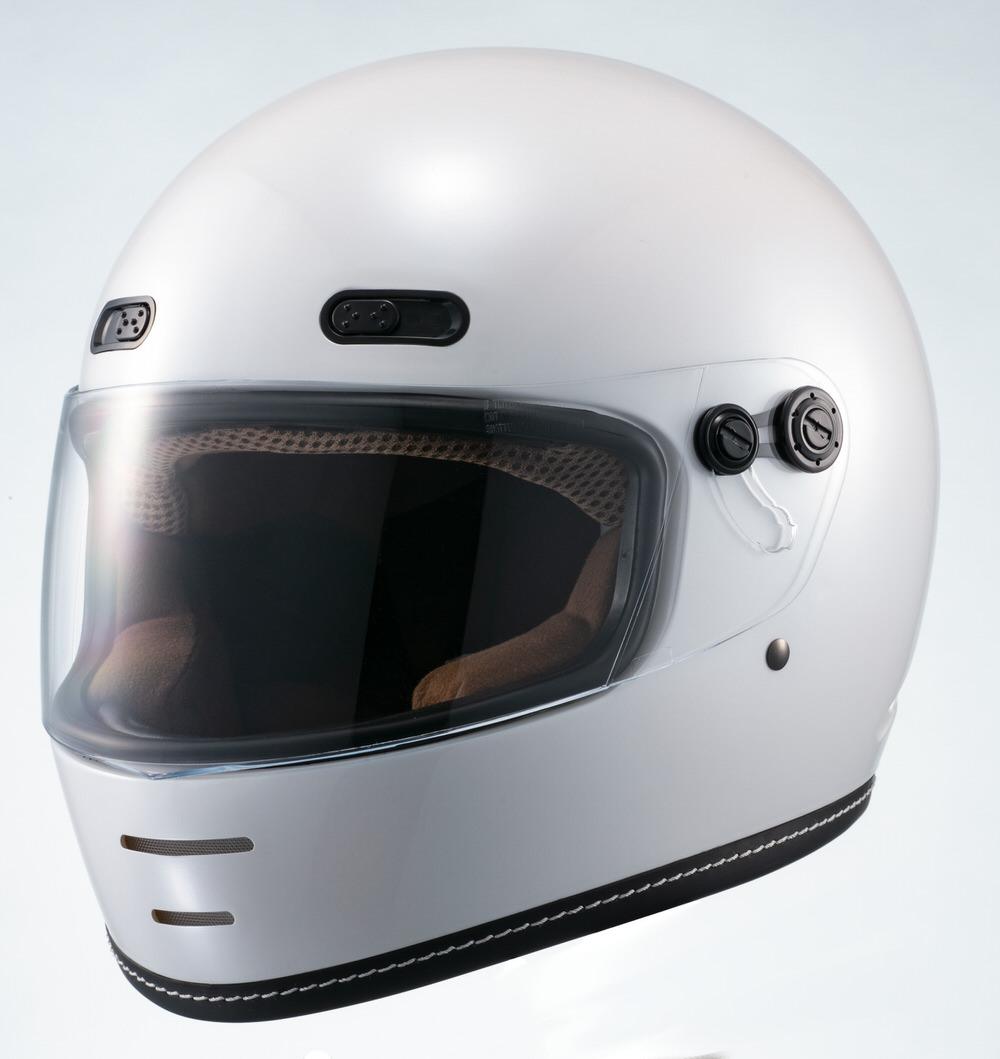 MNF1 END MILL フルフェイスヘルメット パールホワイト Lサイズ MARUSHIN(マルシン)