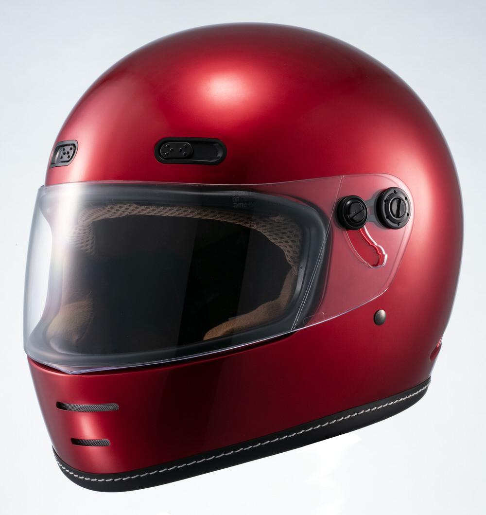 MNF1 END MILL フルフェイスヘルメット キャンディーレッド Lサイズ MARUSHIN(マルシン)
