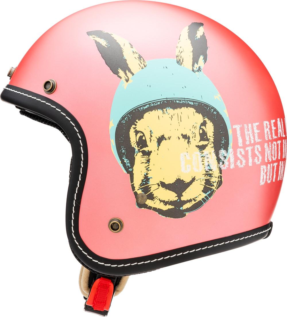 MCJ1 ラビット ジェットヘルメット フラットパールピンク Lサイズ MARUSHIN(マルシン)