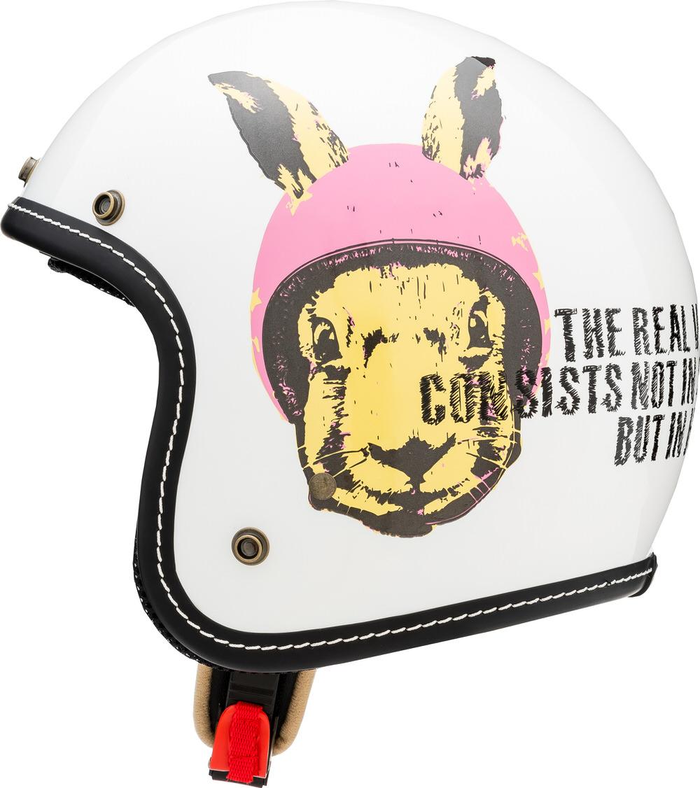 MCJ1 ラビット ジェットヘルメット パールホワイト Lサイズ MARUSHIN(マルシン)