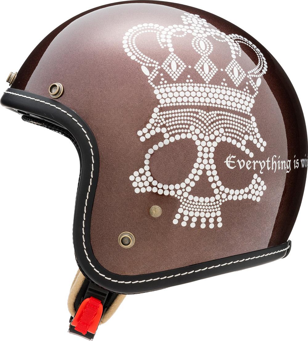 MCJ2 クラウンスカル ジェットヘルメット パールブラウン Lサイズ MARUSHIN(マルシン)
