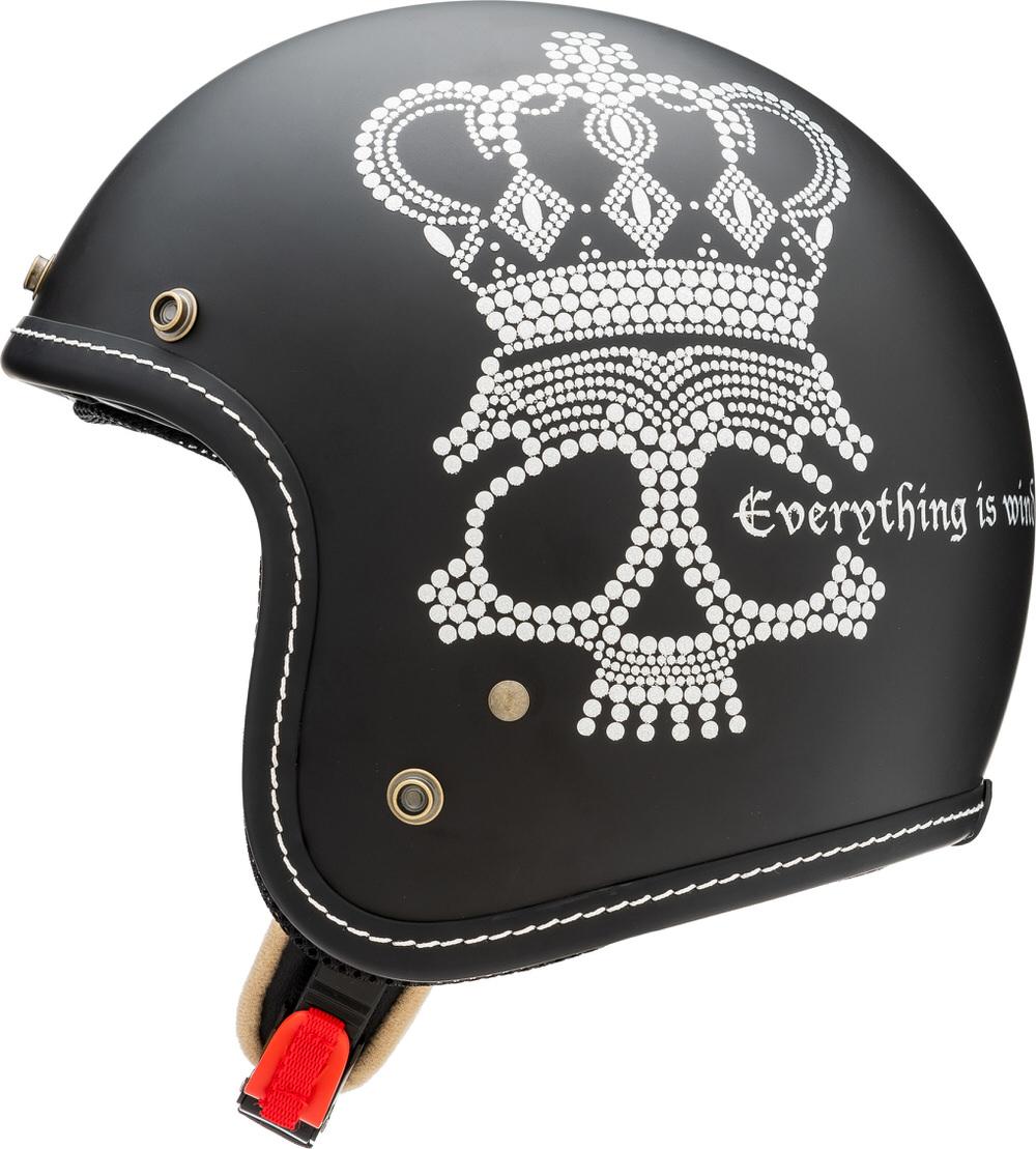 MCJ2 クラウンスカル ジェットヘルメット フラットブラック Lサイズ MARUSHIN(マルシン)