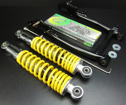 スイングアーム10CM+リアショック280mm MINIMOTO(ミニモト) モンキー(MONKEY)