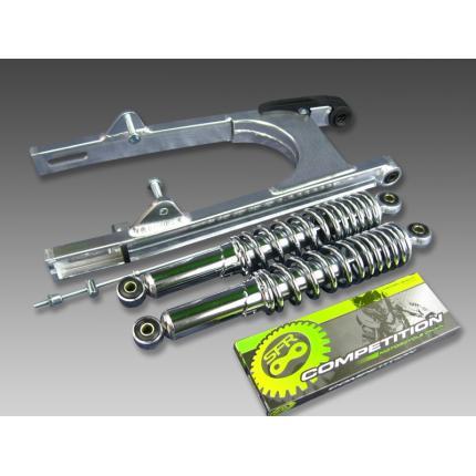 スイングアーム16cm+リアショック330mm メッキ MINIMOTO(ミニモト) モンキー(MONKEY)