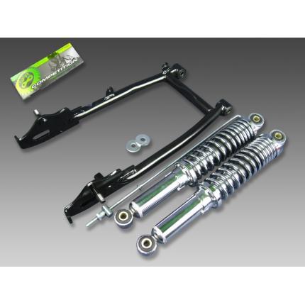 スイングアーム10cm+リアショック330mm メッキ 1096 MINIMOTO(ミニモト) モンキー(MONKEY)