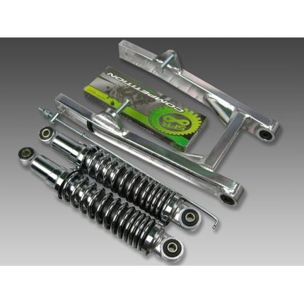 スイングアーム5cm+リアショック280mm メッキ 1185 MINIMOTO(ミニモト) モンキー(MONKEY)