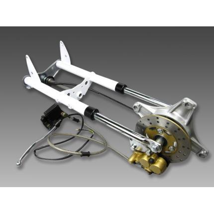 フロントショック2型タイプホワイト MINIMOTO(ミニモト) ダックス(DAX)