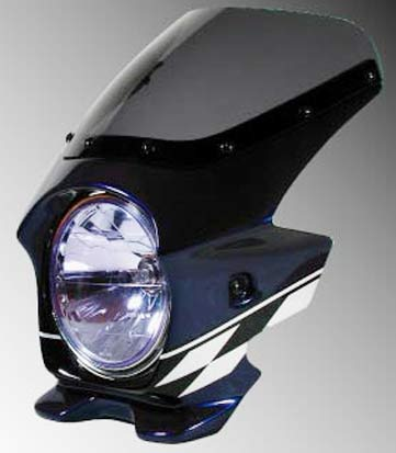 Nプロジェクト ブラスター2 STDスクリーンビキニカウル XJR1300 ダークパープリッシュブルーメタリックL(ストロボ)
