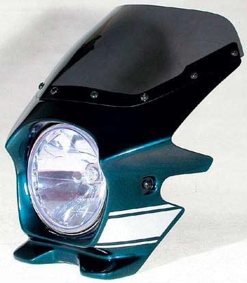 Nプロジェクト ブラスター2 STDスクリーンビキニカウル ZEPHYR 750/χ メタリックオーシャンブルー(ストライプ)