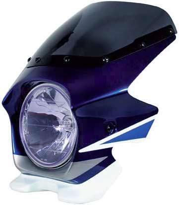 Nプロジェクト ブラスター2 STDスクリーンビキニカウル GSX1400 パールスチルホワイト/パールスズキディープブルー